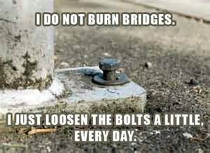 sinking bridge